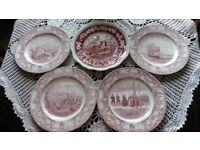 Colonial Times Crown Ducal Plates, Retro Plates Ideal for Display