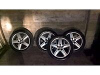 """17"""" audi s-line alloys with 4 brand new tyres"""