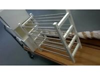 Pair of Ikea Tjusig solid wood steel double shoe racks (£40 new) perfect central London bargain