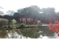 Holiday Lodge for sale at Yaxham Waters overlooking a beautiful pond in the tranquility of Norfolk