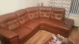 Dfs brown leather suite