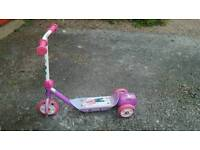 Girls Barbie Scooter (blows bubbles)