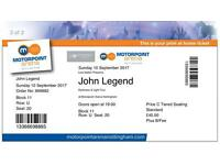 John Legend Tickets x2 motorpoint arena Nottingham Sunday 10th Sept