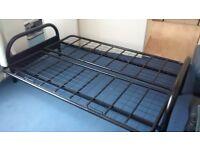 Futon Sofa Bed Frame Only Black Metal 180cm X 120cm