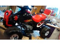 Electric ride on Quad: Steel framed twin speed 12 volt