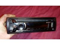 Sony car mp3 USB CD player radio carbon Faber look
