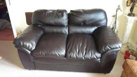 2 Seater faux leather couch