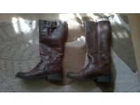 2f36150cf2f Women s size 5 Brown Leather Knee High Boots from Faith (£25) – Totterdown