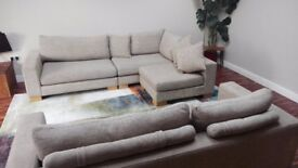 Two large 2 x Ashley Manor sofas