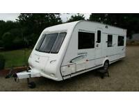 2008 COMPASS OMEGA 544 4 BERTH FIXED BED END BED ROOM CARAVAN