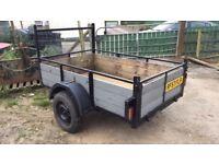 6x4 single Axel trailer easy towed