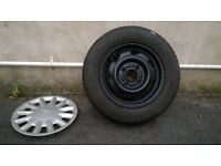 Wheel and tyre 165/70/r13 off ford fiesta