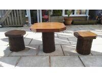 Handmade wooden children's garden set