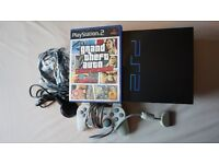PLAYSTATION 2 GTA GRAND THEFT AUTO + CONTROLLER + CABLES