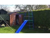 Tp metal climbing frame with slide