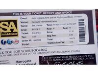 Jools Holland Concert Ticket - Harrogate