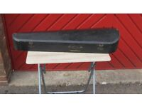 Vintage Edwardian violin case for storage or for use - all catches and hinges work.