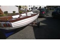 19' skeer boat good sea or lakeboat and trailor
