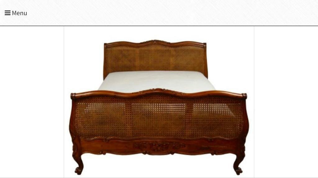 King size bed - French Louis XV style bed 10 months old