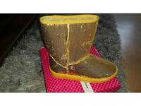 Gold sequin boots new 5/6