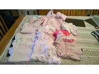tiny baby and newborn baby girls clothes