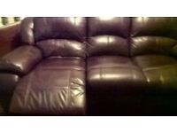 3seater leather recliner