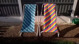 GORGEOUS RETRO CHILDRENS SUN LOUNGERS