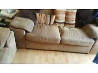 2 x Harvey's twin seat sofas/settees