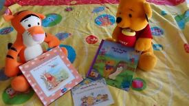 Child's single duvet cover (Night Garden), Books, cuddly Winnie and Tiger toys