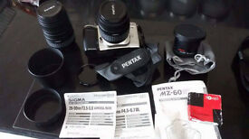 Pentax MZ60 SLR Camera with Accessories for sale