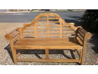 Lytyens Teak Garden Bench