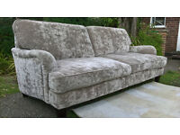 A Stunning Ex-display 3 Seater Chenille Grand Settee