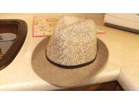 Ladies trilby hat M&S never worn RRP £20