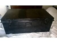 Very old travelling trunk/ shabby chic coffee table/ storage £45 Ashtead