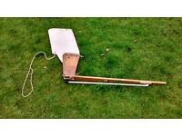Mirror Dinghy Rudder, plus rudder blade and stock
