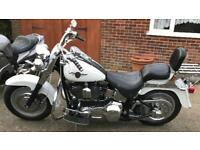 HARLEY DAVIDSON FATBOY FLSTFI CUSTOM - ONLY 37000 miles - £2400 recent parts - may swap p/x