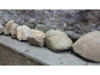 15 large garden stones availabe