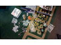 Fishing Tackle, mixed bag rod reels hooks
