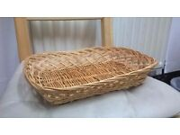 Shallow Wicker Tray Kitchen Storage Display Basket Easter Gift Hampers