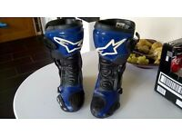 Blue - Alpine-Stars - SMX - Motorcycle Boots - Size 9