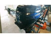 18hp Tohatsu 4 stroke outboard engine