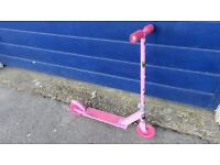 Pink scooter