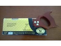 """Professional Range, Quality 10"""" Brass Backed Tenon Saw As Pictured."""