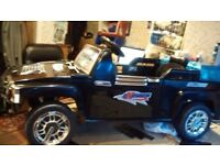 Hummer style electric ride on Jeep (6 volt) new