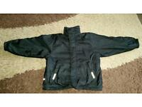 Boys Waterproof black reversible coat