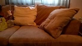2 large sofas pretty good condition,will sell separate