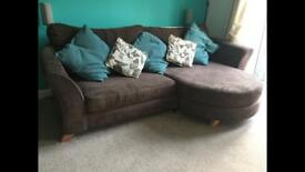Lovely Brown 4 Seater Sofa / Settee - DFS