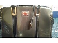 Ladies designer patent leather handbag
