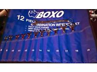 Boxo professional quality combination spanner set