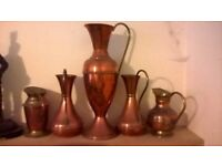 Copper brass pewter jug